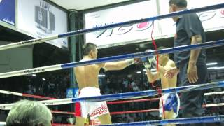 Muay Thai Spinning Back Fist Knockout