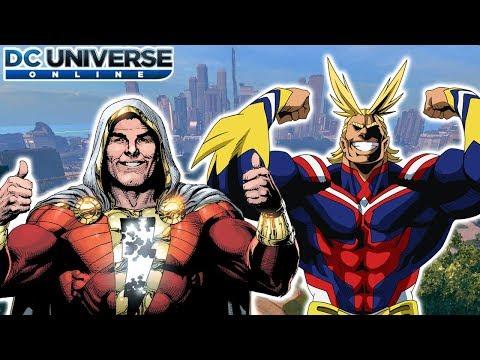 DCUO | All Might and Shazam Duo Raising Hades Run | Iconic DC My Hero Academia Crossover