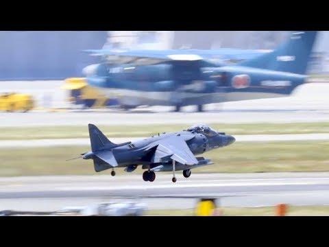 F-35B Transition: VMA-311 AV-8B Harriers Departs MCAS Iwakuni, Japan.