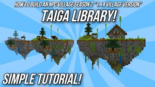 Minecraft Tutorial: How to build an NPC Village - Spruce Library! (Village & Pillage Version)