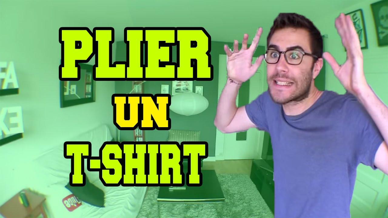 Cyprien comment plier un t shirt en 2 sec youtube - Comment plier un t shirt ...