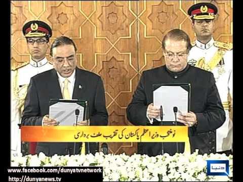 Nawaz Sharif takes oath as prime minister