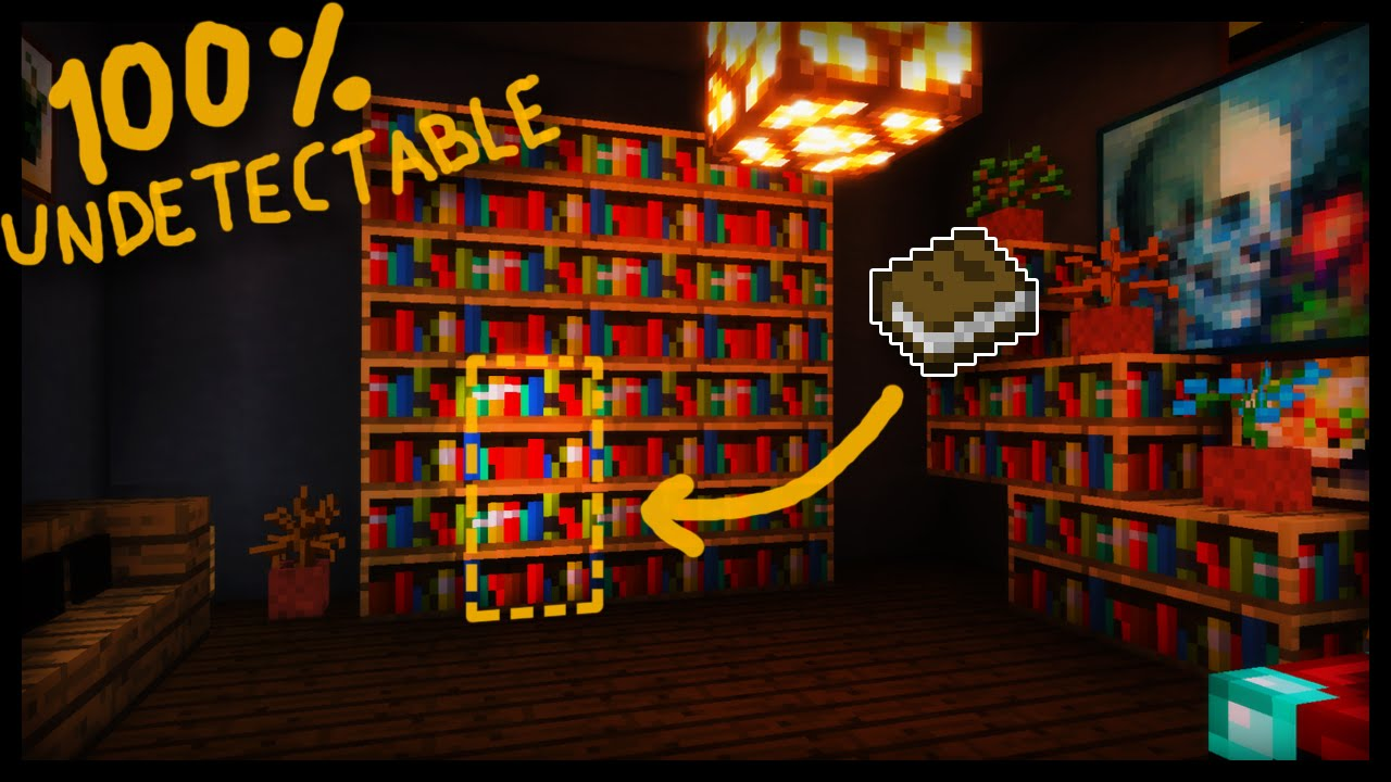 The Secret 100 Undetectable Minecraft Library Entrance