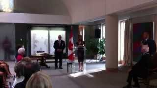 Céline Dion's Acceptance Speech at the Order of Canada Ceremony