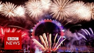 New Year fireworks 'show London is open'    BBC News