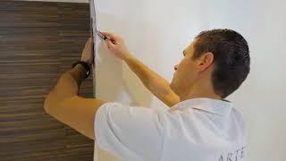Hoe verwerk ik stugge muurbekleding op de buitenhoeken