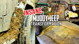 DEEP CLEANING The Dirtiest Muddiest Jeep Ever! Complete Disaster Car Detailing Transformation!
