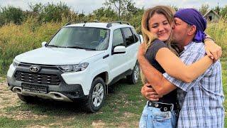 Дочь дарит новую машину ПАПИНЫ СЛЁЗЫ