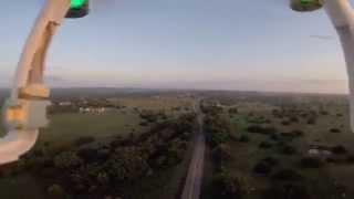 tornado damage path aerial drone footage entire home thrown bertram texas 06 12 2014