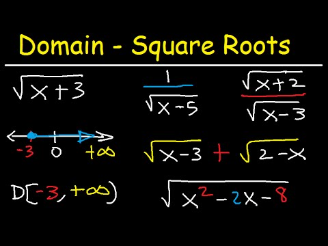 Domain of a Square Root Function & Rational Functions -  Precalculus