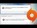 How to Fix Error 0xc00007b & MSVCP120.dll in (All Windows) [100% Solved] 2017 - Origin and General