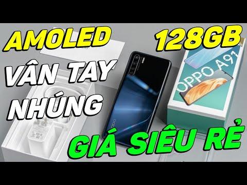 Đánh giá lại OPPO A91 màn hình AMOLED, 128GB, VÂN TAY NHÚNG giá 4 CỦ!!!