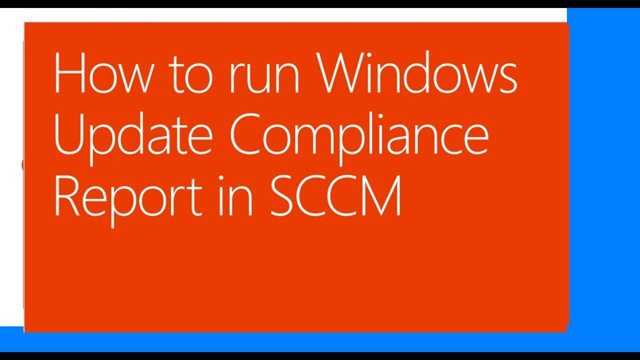 Windows Update Compliance Report in SCCM
