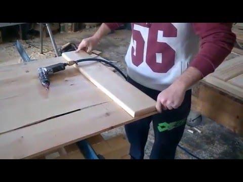 Elaboración de puerta corredera z tipo granero Carmesa - YouTube