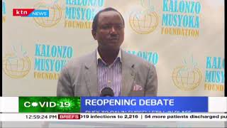 Kalonzo urges caution over the move to reopen the economy, says experts consultations is key