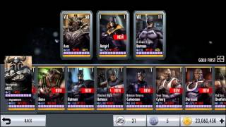 Repeat youtube video Injustice iOS Beta 2.2 Patch Unreleased Characters WBID