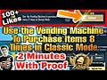 Use the Vending Machine To Purchase items 8 Times in Classic Mode Mission PUBG Mobile