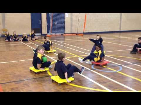 Yr 1&2 PE Lesson Scooter Boards