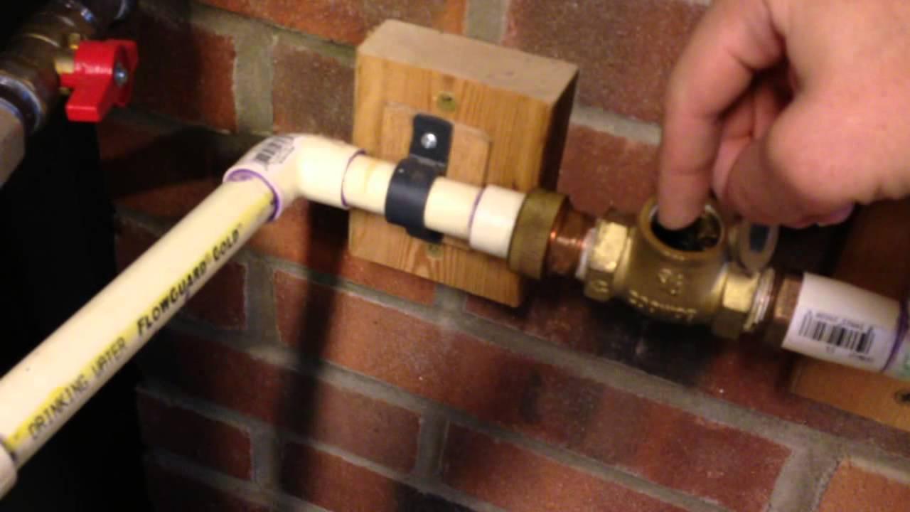 Instant Hot Water Line Recirculation Part 1  YouTube