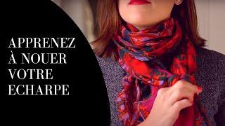 Comment nouer une écharpe / un foulard defaçon moderne ?