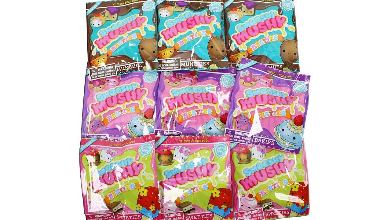 Smooshy Mushy Series 2 Besties : Smooshy Mushy Besties Blind Bags Unboxing Toy Review Munchies, Bakies and Sweeties Squishies ...