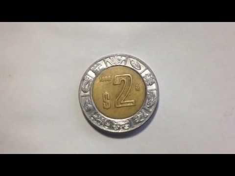 1998 Mexico 2 Pesos Coin