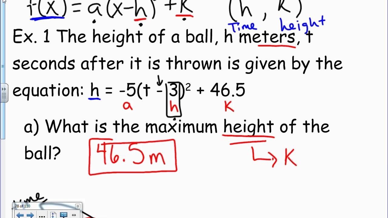 Vertex form word problem youtube vertex form word problem falaconquin