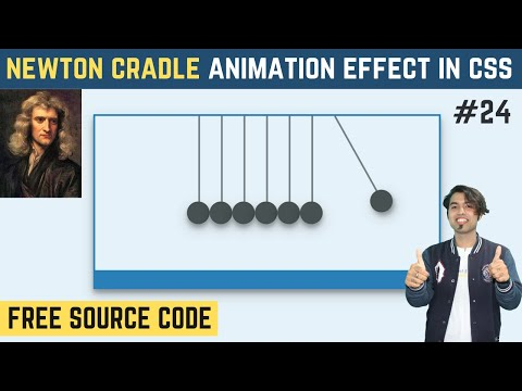 Newton's Cradle Animation Effects Using CSS
