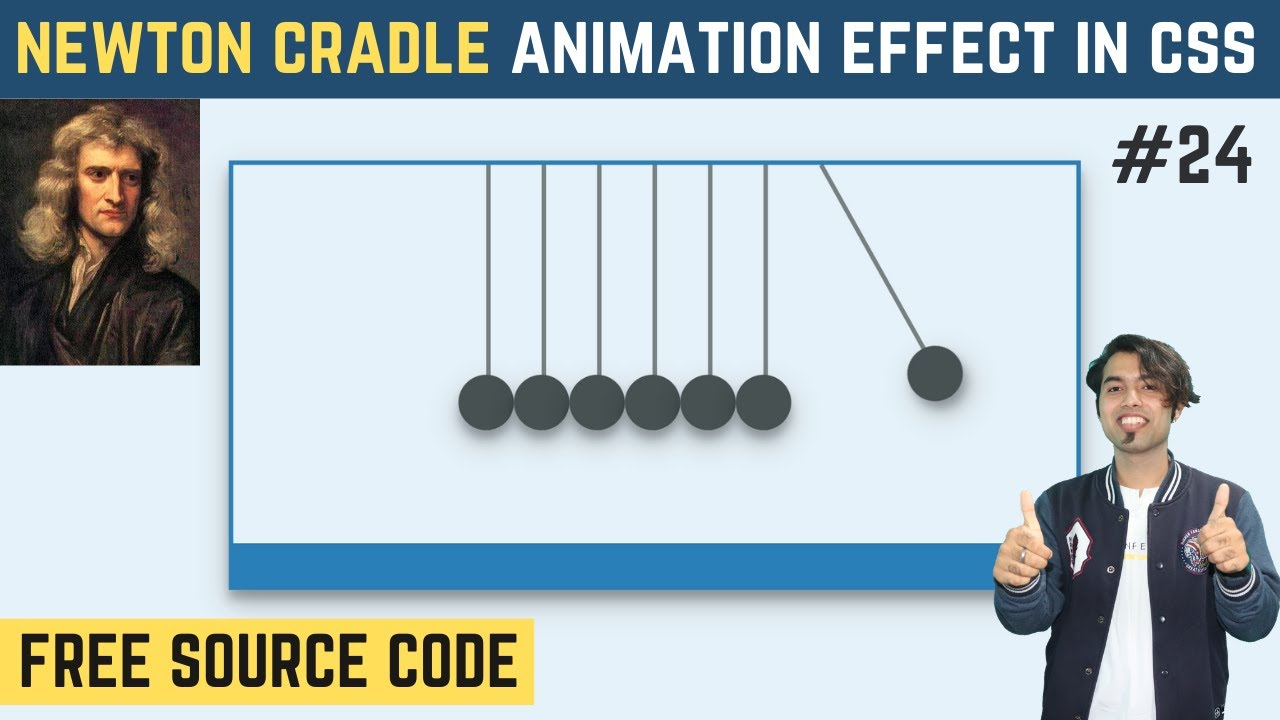 Newton's Cradle Animation Effects Using CSS in Hindi