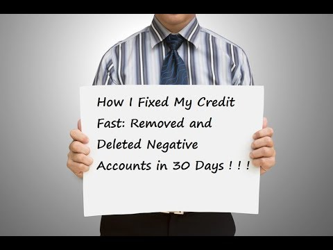 How I Fixed My Credit Fast: Removed and Deleted Negative Acc