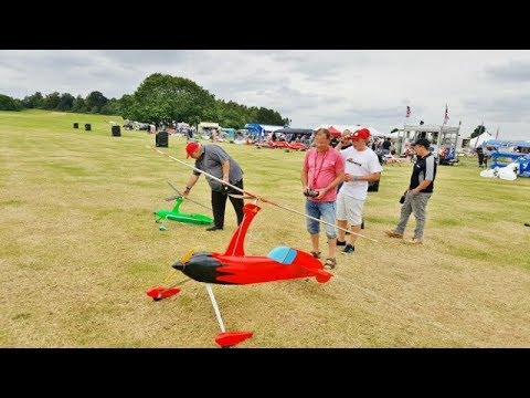 """MULTIPLE RC AUTOGYROS DISPLAY INC """"RING OF FIRE"""" AT RAGLEY HALL INTERNATIONAL SHOW - 2017"""