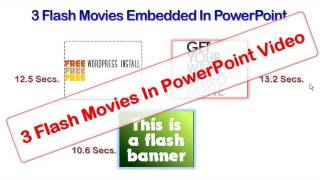 3 Flash Movies In PowerPoint Animation Video