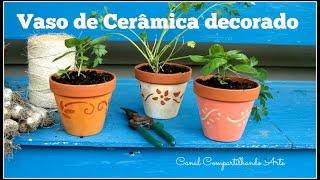 Como pintar vasos de cerâmica – Artesanato DIY
