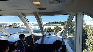 ディズニーリゾートライン35周年ラッピングモノレールと前方展望