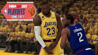 NBA 2020 Virtual Playoffs - Lakers vs Clippers Western Conference Finals Game 1  LAL vs LAC (NBA 2K)