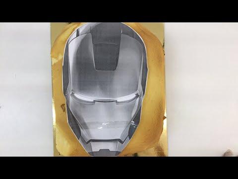 Iron man head cake live!