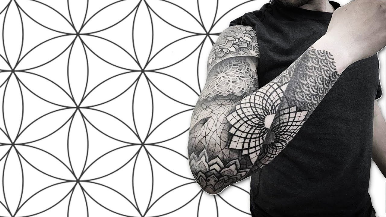 8182dbf62ce14 GETTING A FULL SLEEVE SACRED GEOMETRY TATTOO IN MEXICO CITY - YouTube