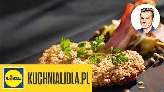 Sznycel w panierce owsianej z sałatką z ziemniaków - Karol Okrasa - Przepisy Kuchni Lidla