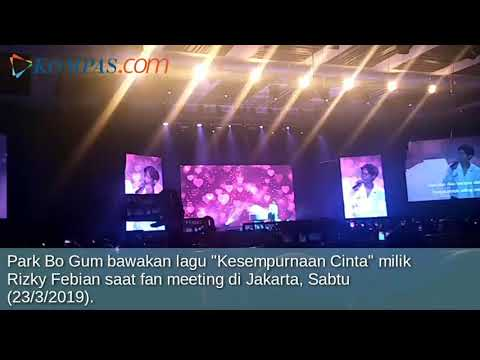 """Park Bo Gum """"Hadirkan"""" Rizky Febian Saat Fan Meeting di Jakarta"""