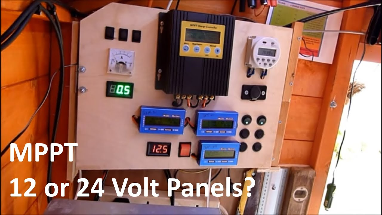 Mppt 12 Or 24 Volt 12v Solar Shed Youtube