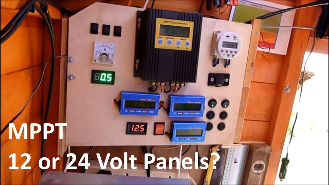 Simple Boat Wiring Mppt 12 Or 24 Volt 12v Solar Shed Youtube