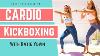 Cardio KICKBOXING challenge with Katie Yovin - 5 minute BURN! | Rebecca Louise