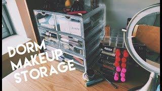 college dorm makeup storage