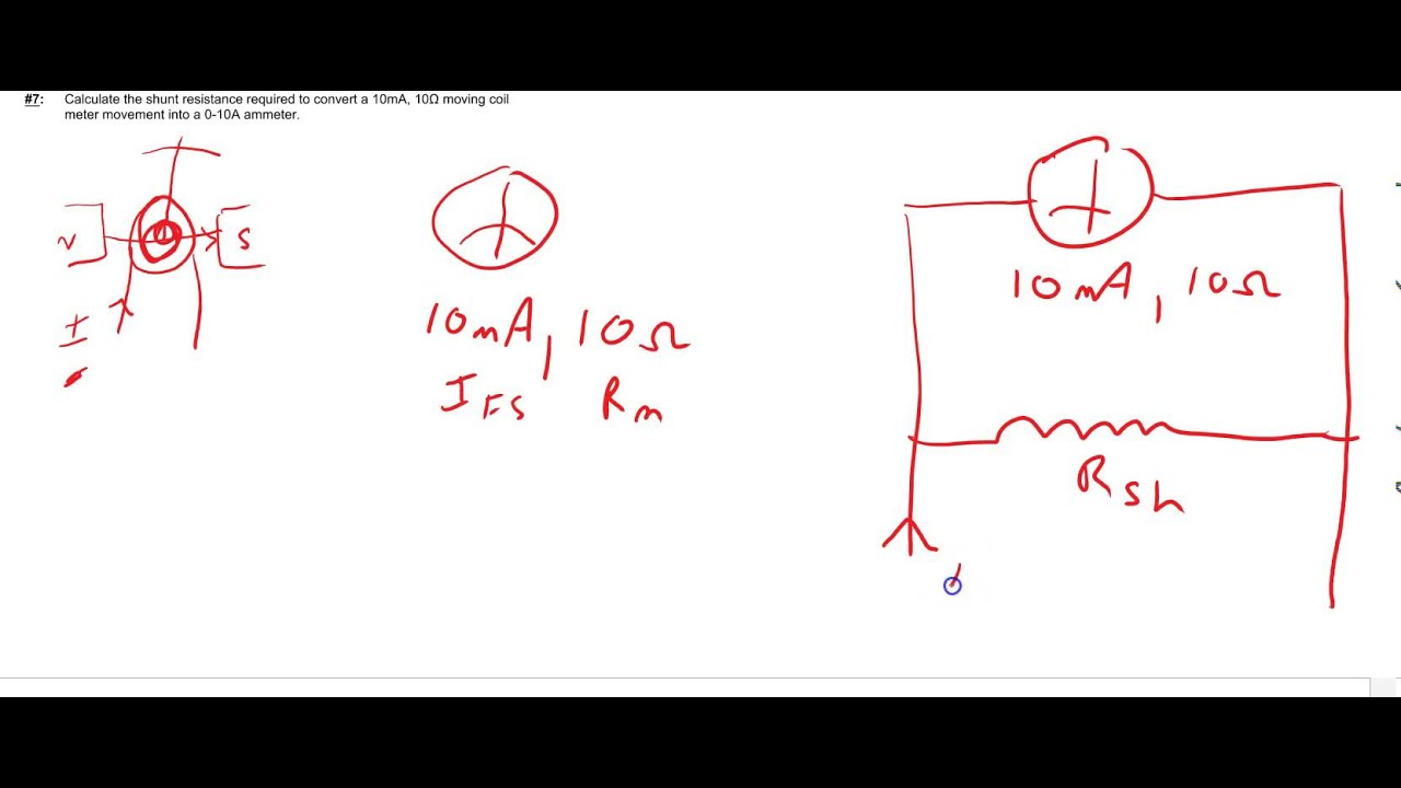 how to make a shunt for an ammeter