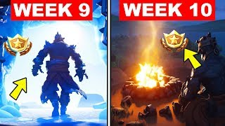 FORTNITE WEEK 9 AND WEEK 10 LOADING SCREEN WITH SECRET BATTLE STAR AND SECRET BANNER LOCATIONS