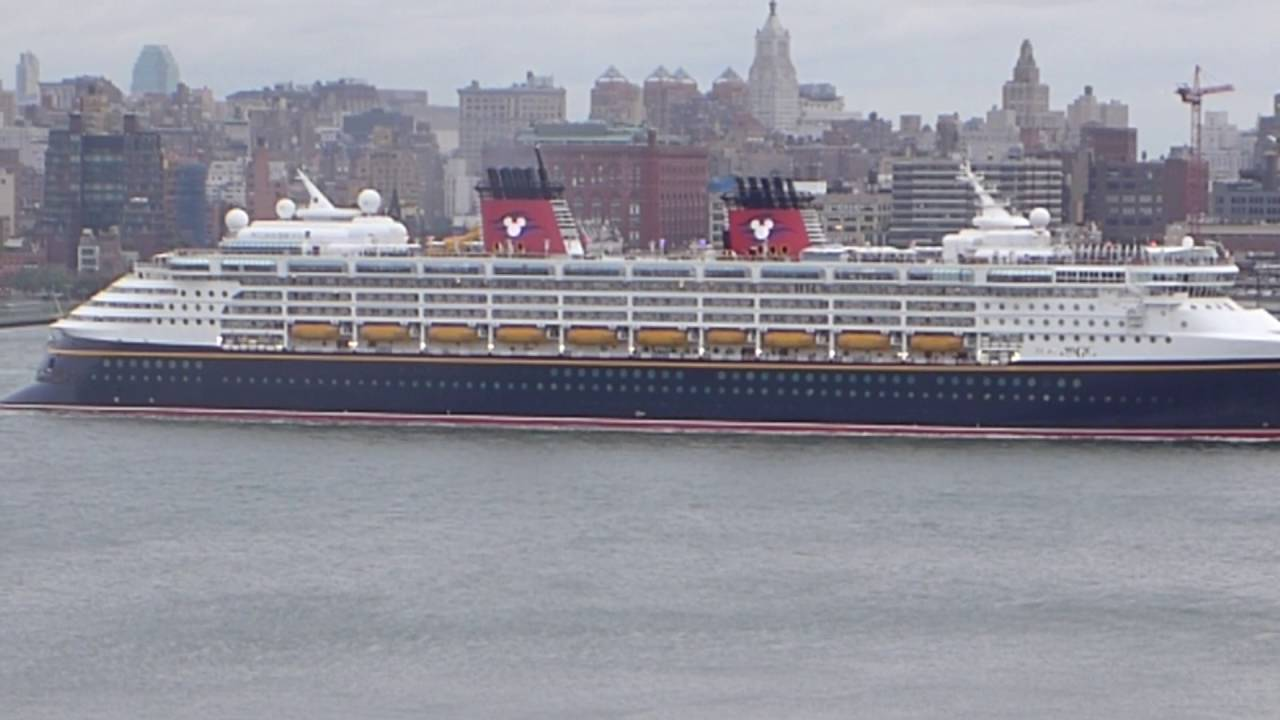 New York New York Disney Magic Departs New York City HD - What cruise ships leave from nyc