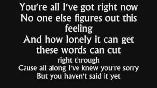 Mayday Parade - Anywhere but here [with lyrics]
