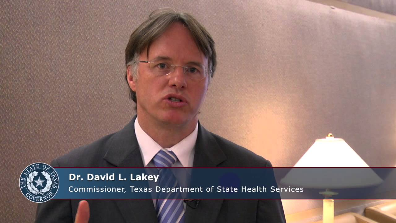 Dr David L Lakey Commissioner Of Texas Department Of State Health