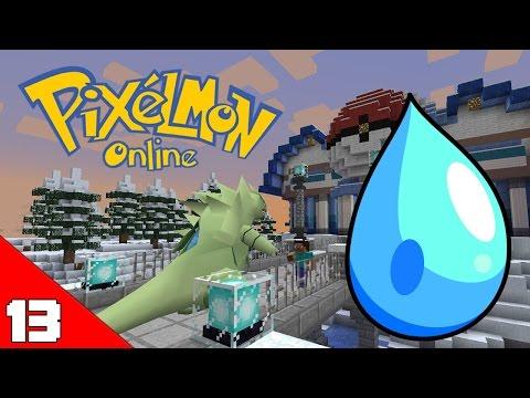 Minecraft Pixelmon X #13 ปะทะยิมน้ำสุดแข็งแกร่ง!!