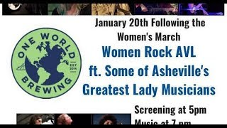 Women Rock AVL: Benefit for ERA - NC @ One World Brewing West 1-20-2019